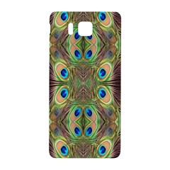 Beautiful Peacock Feathers Seamless Abstract Wallpaper Background Samsung Galaxy Alpha Hardshell Back Case