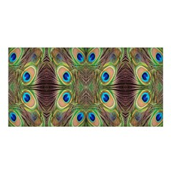 Beautiful Peacock Feathers Seamless Abstract Wallpaper Background Satin Shawl