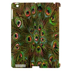 Peacock Feathers Green Background Apple Ipad 3/4 Hardshell Case (compatible With Smart Cover)