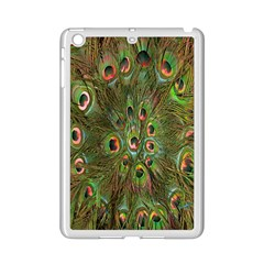 Peacock Feathers Green Background iPad Mini 2 Enamel Coated Cases