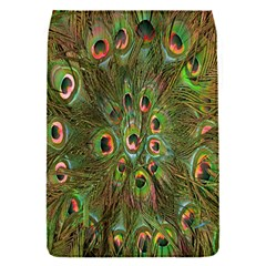 Peacock Feathers Green Background Flap Covers (S)