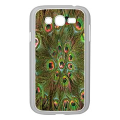 Peacock Feathers Green Background Samsung Galaxy Grand DUOS I9082 Case (White)