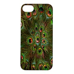 Peacock Feathers Green Background Apple iPhone 5S/ SE Hardshell Case