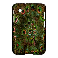 Peacock Feathers Green Background Samsung Galaxy Tab 2 (7 ) P3100 Hardshell Case