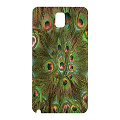 Peacock Feathers Green Background Samsung Galaxy Note 3 N9005 Hardshell Back Case