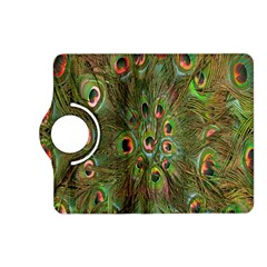 Peacock Feathers Green Background Kindle Fire HD (2013) Flip 360 Case