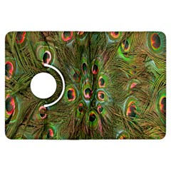 Peacock Feathers Green Background Kindle Fire HDX Flip 360 Case