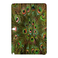 Peacock Feathers Green Background Samsung Galaxy Tab Pro 10.1 Hardshell Case