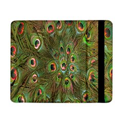 Peacock Feathers Green Background Samsung Galaxy Tab Pro 8.4  Flip Case