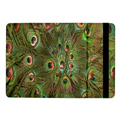 Peacock Feathers Green Background Samsung Galaxy Tab Pro 10.1  Flip Case