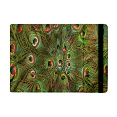 Peacock Feathers Green Background iPad Mini 2 Flip Cases