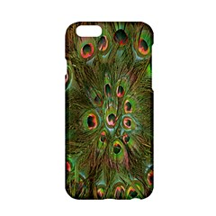 Peacock Feathers Green Background Apple iPhone 6/6S Hardshell Case