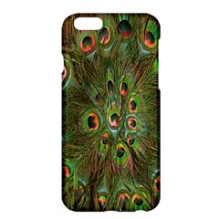 Peacock Feathers Green Background Apple Iphone 6 Plus/6s Plus Hardshell Case