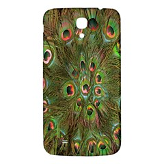 Peacock Feathers Green Background Samsung Galaxy Mega I9200 Hardshell Back Case