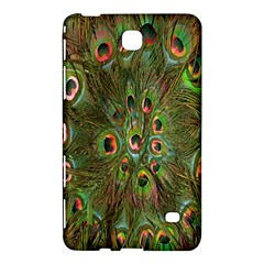 Peacock Feathers Green Background Samsung Galaxy Tab 4 (8 ) Hardshell Case