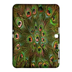 Peacock Feathers Green Background Samsung Galaxy Tab 4 (10.1 ) Hardshell Case