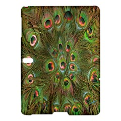 Peacock Feathers Green Background Samsung Galaxy Tab S (10.5 ) Hardshell Case