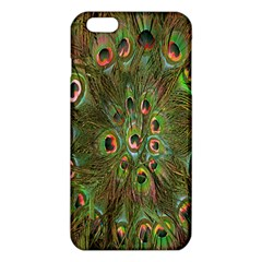 Peacock Feathers Green Background iPhone 6 Plus/6S Plus TPU Case