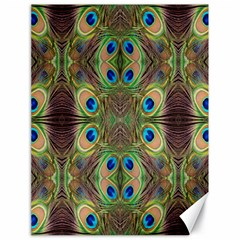 Beautiful Peacock Feathers Seamless Abstract Wallpaper Background Canvas 18  X 24