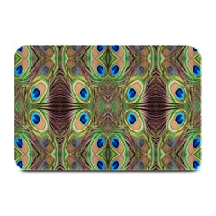 Beautiful Peacock Feathers Seamless Abstract Wallpaper Background Plate Mats