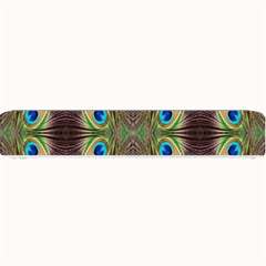 Beautiful Peacock Feathers Seamless Abstract Wallpaper Background Small Bar Mats