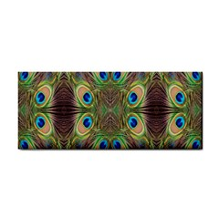 Beautiful Peacock Feathers Seamless Abstract Wallpaper Background Cosmetic Storage Cases