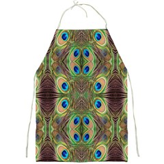 Beautiful Peacock Feathers Seamless Abstract Wallpaper Background Full Print Aprons