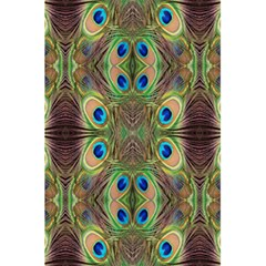 Beautiful Peacock Feathers Seamless Abstract Wallpaper Background 5 5  X 8 5  Notebooks
