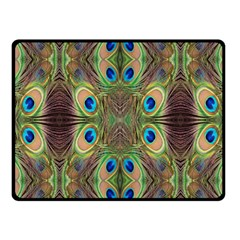 Beautiful Peacock Feathers Seamless Abstract Wallpaper Background Fleece Blanket (small)