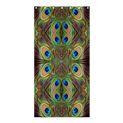 Beautiful Peacock Feathers Seamless Abstract Wallpaper Background Shower Curtain 36  x 72  (Stall)