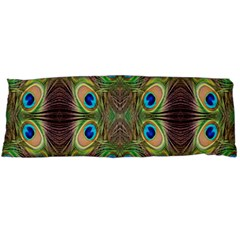 Beautiful Peacock Feathers Seamless Abstract Wallpaper Background Body Pillow Case Dakimakura (Two Sides)