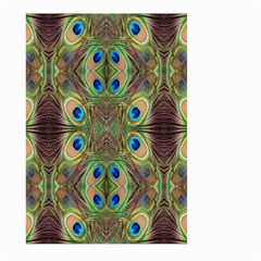 Beautiful Peacock Feathers Seamless Abstract Wallpaper Background Large Garden Flag (Two Sides)