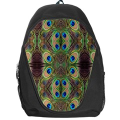 Beautiful Peacock Feathers Seamless Abstract Wallpaper Background Backpack Bag