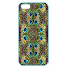 Beautiful Peacock Feathers Seamless Abstract Wallpaper Background Apple Seamless iPhone 5 Case (Color)
