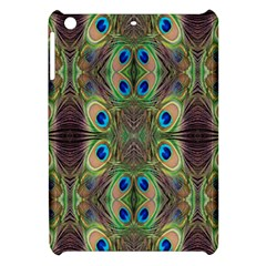Beautiful Peacock Feathers Seamless Abstract Wallpaper Background Apple iPad Mini Hardshell Case