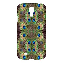 Beautiful Peacock Feathers Seamless Abstract Wallpaper Background Samsung Galaxy S4 I9500/I9505 Hardshell Case
