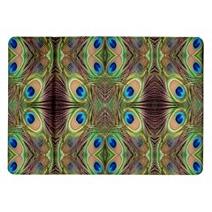Beautiful Peacock Feathers Seamless Abstract Wallpaper Background Samsung Galaxy Tab 10.1  P7500 Flip Case