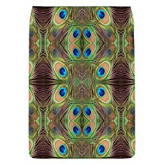 Beautiful Peacock Feathers Seamless Abstract Wallpaper Background Flap Covers (L)