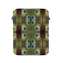 Beautiful Peacock Feathers Seamless Abstract Wallpaper Background Apple iPad 2/3/4 Protective Soft Cases