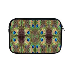 Beautiful Peacock Feathers Seamless Abstract Wallpaper Background Apple Ipad Mini Zipper Cases