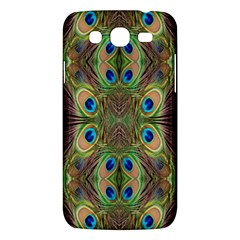 Beautiful Peacock Feathers Seamless Abstract Wallpaper Background Samsung Galaxy Mega 5.8 I9152 Hardshell Case
