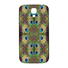Beautiful Peacock Feathers Seamless Abstract Wallpaper Background Samsung Galaxy S4 I9500/I9505  Hardshell Back Case