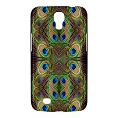 Beautiful Peacock Feathers Seamless Abstract Wallpaper Background Samsung Galaxy Mega 6.3  I9200 Hardshell Case