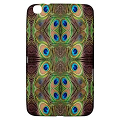 Beautiful Peacock Feathers Seamless Abstract Wallpaper Background Samsung Galaxy Tab 3 (8 ) T3100 Hardshell Case