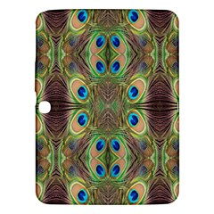 Beautiful Peacock Feathers Seamless Abstract Wallpaper Background Samsung Galaxy Tab 3 (10.1 ) P5200 Hardshell Case