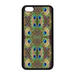 Beautiful Peacock Feathers Seamless Abstract Wallpaper Background Apple Iphone 5c Seamless Case (black)