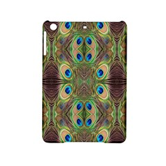 Beautiful Peacock Feathers Seamless Abstract Wallpaper Background iPad Mini 2 Hardshell Cases