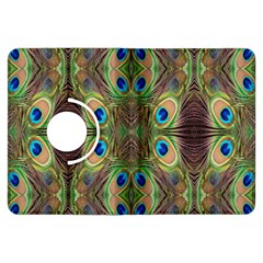 Beautiful Peacock Feathers Seamless Abstract Wallpaper Background Kindle Fire HDX Flip 360 Case