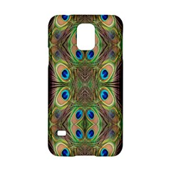 Beautiful Peacock Feathers Seamless Abstract Wallpaper Background Samsung Galaxy S5 Hardshell Case
