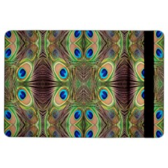 Beautiful Peacock Feathers Seamless Abstract Wallpaper Background Ipad Air 2 Flip